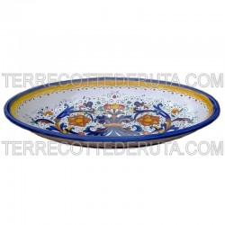 Oval Tray Rich Deruta Blue