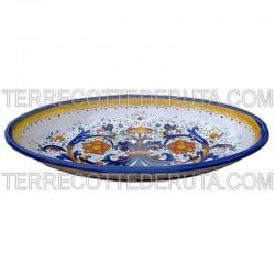Oval Tray Rich Deruta Blue