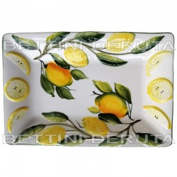 Ceramic Rectangular tray lemon