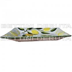 Ceramica vassoio con limoni