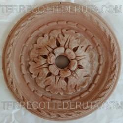 Rosone terracotta fontana