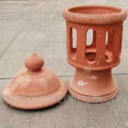 Bolo Ceramica Orvietano Gallo Verde Cm. 20