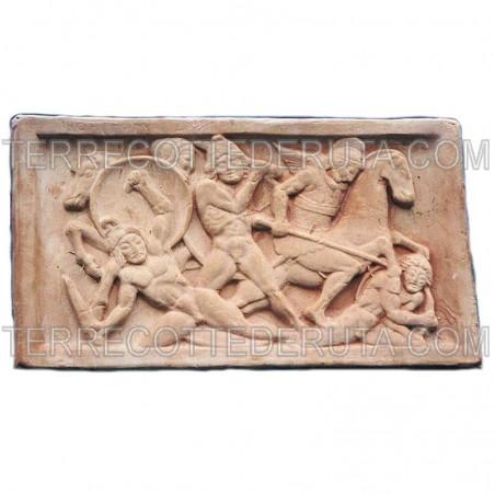 Pannello Terracotta Con Arcieri Cm. 70 x 40