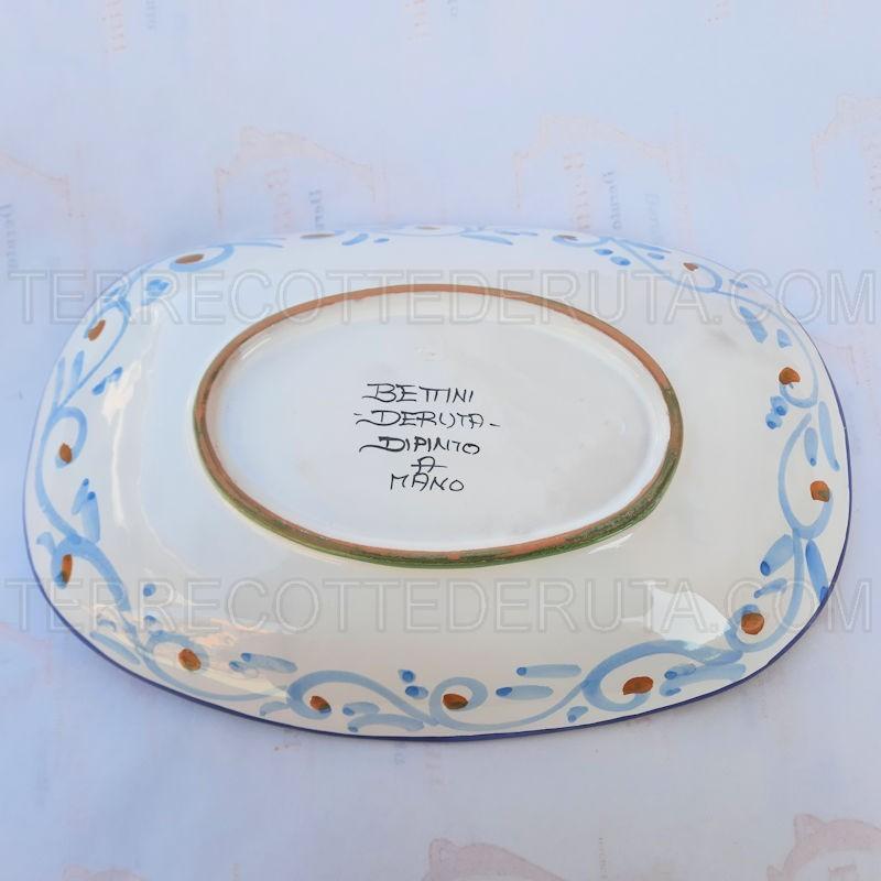 Set Olio Aceto Ceramica Raffarellesco