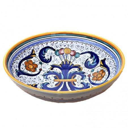 Bolo Insalatiera ceramica maiolica Deruta dipinto a mano decoro Ricco Deruta Giallo