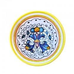 Bolo Insalatiera Ceramica maiolica Deruta dipinto a mano decoro Ricco Deruta Giallo Cm. 10 12 15 18