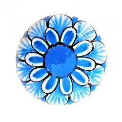 Centrotavola Fruttiera Ricco Deruta Blu Cm.  33 x 27