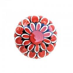 Pomello in ceramica maiolica Deruta dipinto a mano Vario Rosso 05
