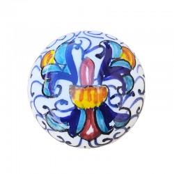 Pomello in ceramica maiolica Deruta dipinto a mano Ricco Deruta Blu