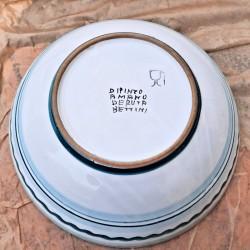Bolo insalatiera ceramica maiolica Deruta dipinto a mano decoro Arabesco Verde