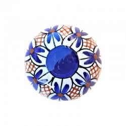 Pomello in ceramica maiolica Deruta dipinto a mano Vario 02