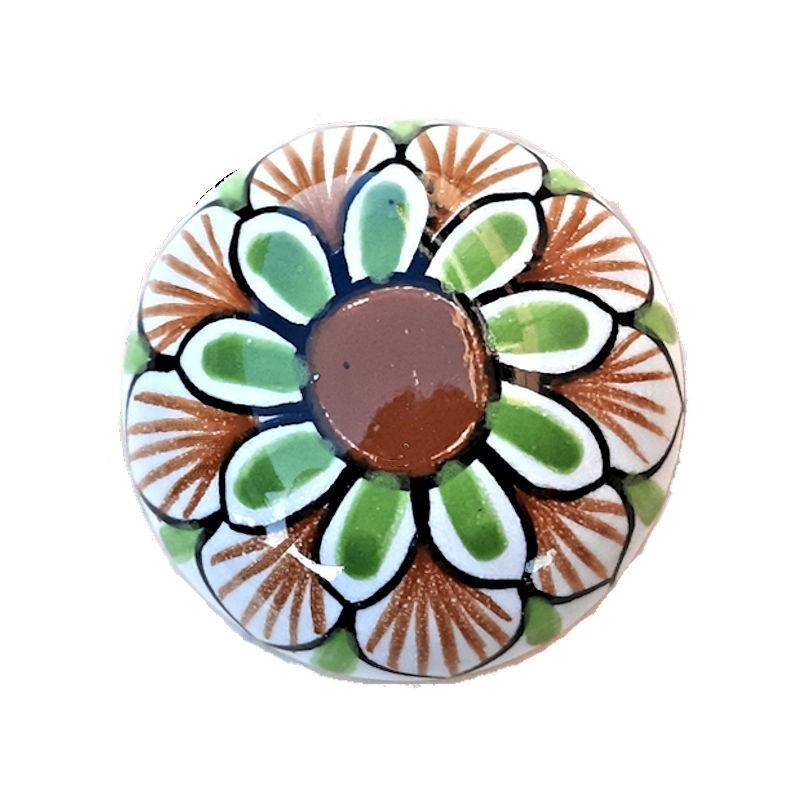 Orologio in Ceramica Da Parete Ricco Deruta Blu Cm. 30