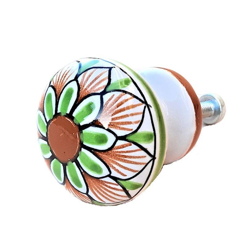 Pomello in ceramica maiolica Deruta dipinto a mano Vario 06