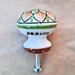 Deruta majolica ceramic knob hand painted Various 06