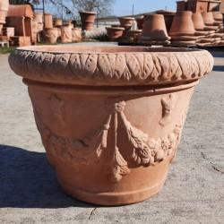 Artistic terracotta vase hand made Cm. 45
