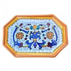 Octagonal ceramic tray with...