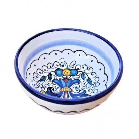 Bolo Insalatiera Ceramica maiolica Deruta dipinto a mano decoro Ricco Deruta Blu Cm. 10 12 15 18
