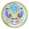 Piatto ceramica maiolica Deruta dipinto a mano da parete decoro Raffaellesco classico