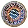 Piatto ceramica Maiolica Deruta dipinto a mano da parete o centrotavola decoro Vario Cubi