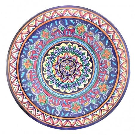 Piatto ceramica maiolica Deruta dipinto a mano da Parete o Centrotavola decoro Vario Grottesche Catene