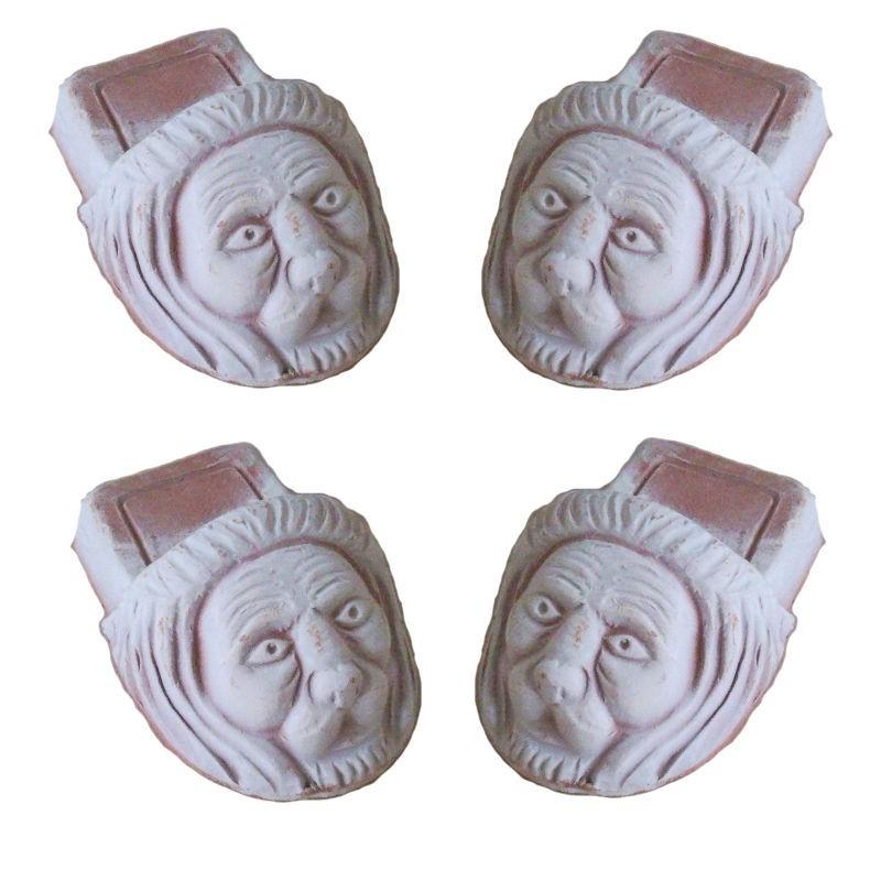 Piedino terracotta Deruta lavorato a mano leone Cm. 12