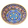 Bolo Insalatiera ceramica maiolica Deruta dipinto a mano decoro Vario Todi