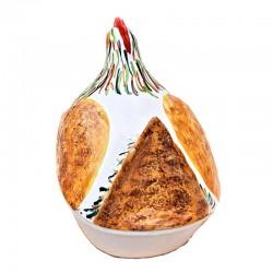 Pirofila cuocipollo ceramica maiolica Deruta da forno dipinto a mano