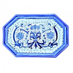 Octagonal ceramic tray with...
