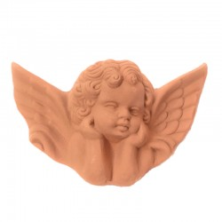 Angel terracotta with wings...