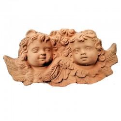 Angeli terracotta con ali...