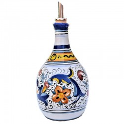 Oliera ceramica maiolica Deruta dipinta a mano decoro Ricco Deruta Blu
