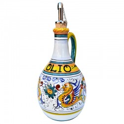 Deruta majolica cruet with...