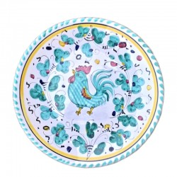 Green Rooster Orvieto Plate