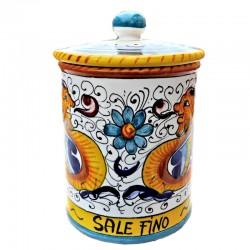 Barattolo cucina ceramica maiolica Deruta dipinto a mano decoro Raffaellesco