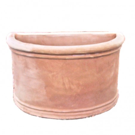 Smooth terracotta wall vase hand made