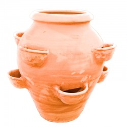 Terracotta jar with pockets...