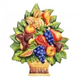 Cesto frutta uva ceramica...