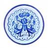 Sottobicchiere sottobottiglia ceramica maiolica Deruta dipinto a mano decoro Ricco Deruta Blu Monocolore