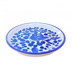 Sottobicchiere sottobottiglia ceramica maiolica Deruta dipinto a mano decoro Arabesco Blu