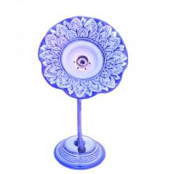 Applique ceramica maiolica Deruta dipinta a mano decoro Lucia blu ferro