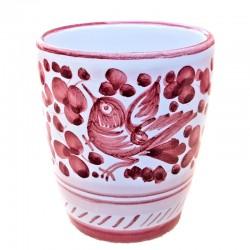 Glass majolica Deruta hand...
