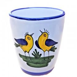 Bicchiere ceramica maiolica...