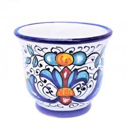 Tazzina Caffè ceramica maiolica Deruta dipinta a mano decoro Ricco Deruta Blu CC 80