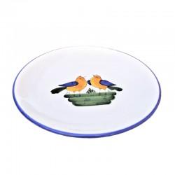 Piatto ceramica maiolica Deruta dipinto a mano da Parete decoro Uccellino