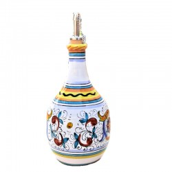 Oliera ceramica maiolica Deruta dipinta a mano decoro Raffaellesco