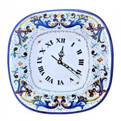 Square wall clock in Deruta...