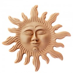 Terracotta sun with rays to...