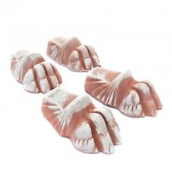 Foot Deruta terracotta...