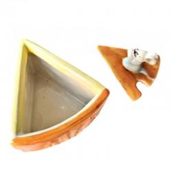 Formaggiera ceramica made in Italy topolino dipinta a mano