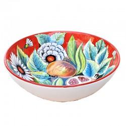Bolo Insalatiera ceramica maiolica Deruta dipinto a mano decoro Melegrane